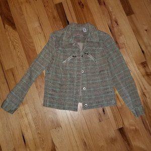 Plaid Soft Denim Jacket